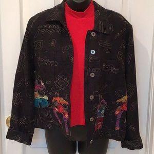 Chico's size 1 ethnic tribal jacket